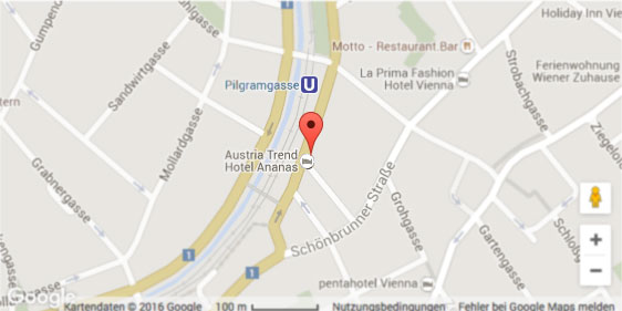 Map Austria Trend Hotel Ananas ****